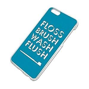 Floss Brush Wash Flush Slim Fit Hard Case Fits Apple iPhone 6