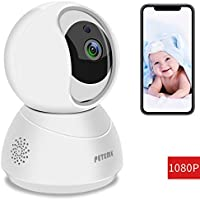 Peteme WiFi IP Camera,1080P FHD Indoor Home Security...
