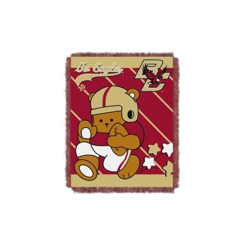 The Northwest Company Officially Licensed NCAA Boston College Golden Eagles Fullback Woven Jacquard Baby Throw Blanket, 36
