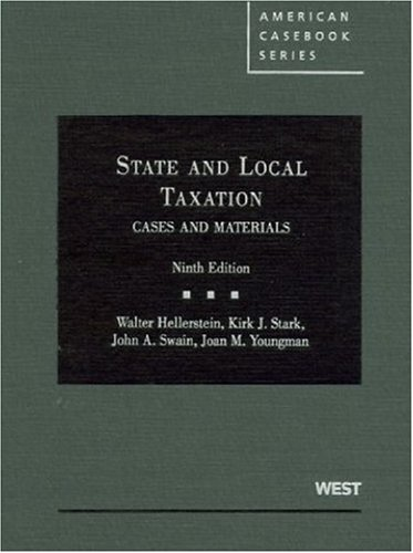 Pdf Law Cases and Materials on State and Local Taxation (American Casebook Series)