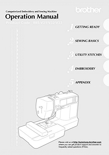 Brother LB-6800 Sewing Embroidery Machine Owners Instruction Manual [Plastic Comb] There and Back
