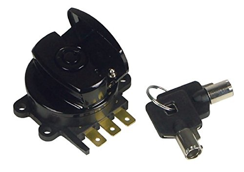 Orange Cycle Parts Black Side Hinge Ignition Switch for Harley Big Twin Replaces # (Dyna Ignition For Harley)