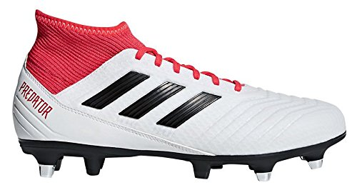SG Football Boots - Adult - White/Black/Real Coral - UK Shoe Size 9 (Adidas Predator Rugby)