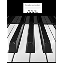 """Piano Composition Book: Blank Sheet Music Notebook, 12 Plain Staffs, 8.5"""" x 11"""", 100 pages, Keyboard Piano Book"""