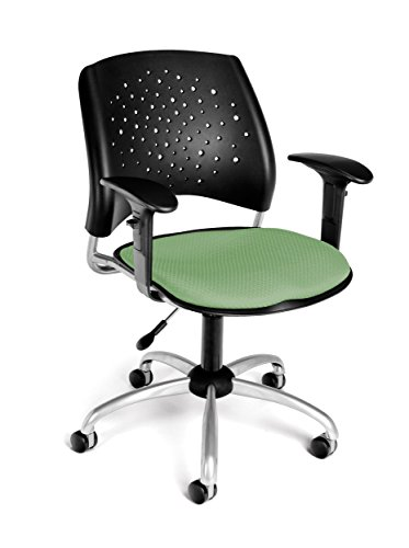 OFM Stars Swivel Chair with Arms, Sage
