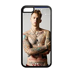 MGK Machine Gun Kelly Solid Rubber Customized Cover Case for iPhone 5c 5c-linda524