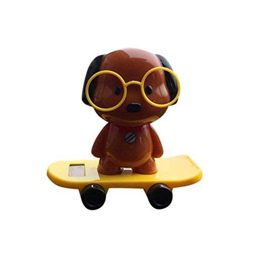 Snowy Dog Costume (Car Decor, Hometom Solar Halloween Dog Animal Swinging Car Decor (B))