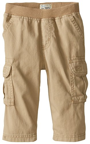 The Children's Place Baby Boys' Pull-on Cargo Pant, Flax, 9-12 Months from The Children's Place