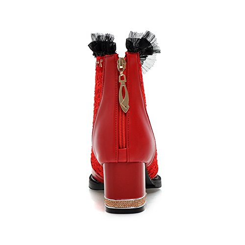Dress Slip AdeeSu Toe Fashion Urethane SXC02108 Womens Pointed Boots Red Resistant nwnXrCExq