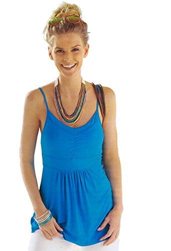 Tank Baby Tunic Doll (EuroBrand Women Vicose Spandex Spaghetti Strap Cami Tunic Knit Top (Blue, Large))