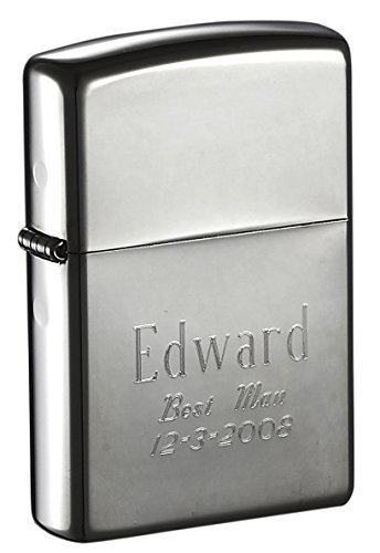 Personalized Black Zippo Lighter Groomsmen product image