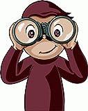 "Curious George Cartoon Bumper Sticker Decal 4""x 5"""