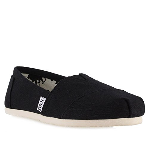 Toms Women's Classic Canvas Black Slip-on Shoe - 9.5 B(M) US