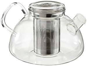 Leonardo Novo - Tetera con filtro para té, 1,2 litros, transparente