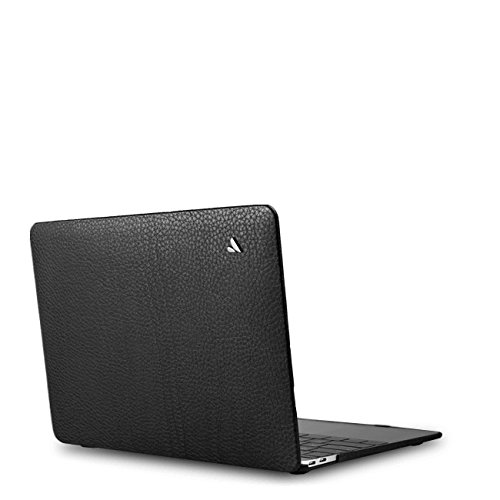 Vaja Cases MacBook Pro 13 Touch Suit Leather Case - Premium Natural Floater Leather - Floater Black by Vaja