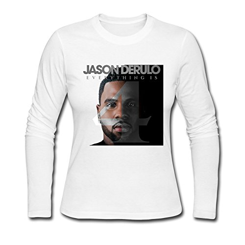 TTATT Women's Jason Derulo Everything Is 4 Fan Art Long Sleeve Crewneck T-shirt