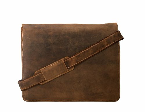 Visconti Visconti Leather Distressed Messenger Bag Harvard Collection, Tan, One Size by Visconti (Image #2)