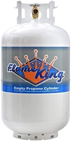 Flame King YSN-301 30 Pound Steel Propane Tank Cylinder with Type 1 Overflow Protection Device Valve DOT and TC Compliant
