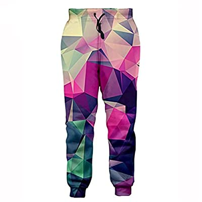 BaaCoo New 3D Joggers Pants Casual Active Sweatpants Galaxy Space/Thunder Cat/Maple Leaf Printed Trousers