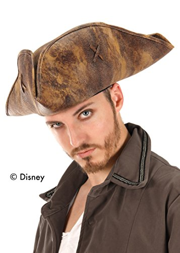 elope Pirates of the Caribbean Jack Sparrow Hat, Brown, Adult (One-Size) ()