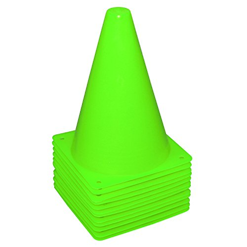 - Fragraim 7.5-Inch Plastic Training Traffic Cones | Mini Agility Marker Cone for Kids | Safety Cones for Motorcycle, Themed Party, Skating, Soccer Basketball Football Drills - (Set of 12, Green)