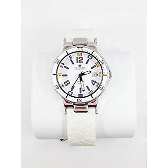Armbanduhr PRYNGEPS A425 Timonier 3bis A690-a1bi Quarz (Batterie) Stahl Quandrante weiß Armband Silikon