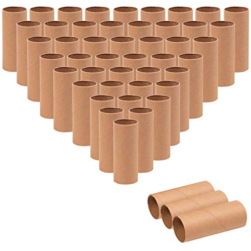 (Genie Crafts 48-Pack Cardboard Paper Tubes for Kids, DIY, and Classroom Projects, Brown, 1.6 x 3.95)