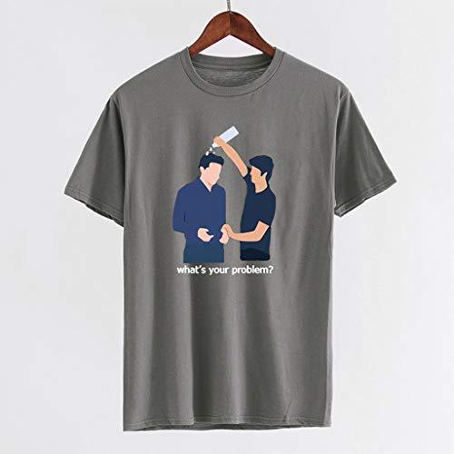 Kekebest 2019 Summer Trendy Popular Blouse for Men,Top Shirts T-Shirt Vest Funny Print Round Neck Hip Hop Short SleeveShirt Quick Dry Workout Athletic Running Training Active - Wholesale Do Denim Clothing Work