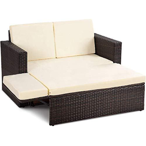 wicker outdoor daybed - 2