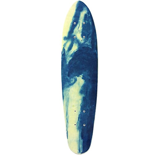Skateboard Deck Width - MPI NOS Fiberglass Skateboard Deck, Blue Marble, 6.63