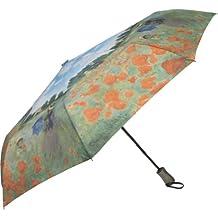 Galleria Monet Poppy Field Auto Super-Mini Umbrella - Poppy Field