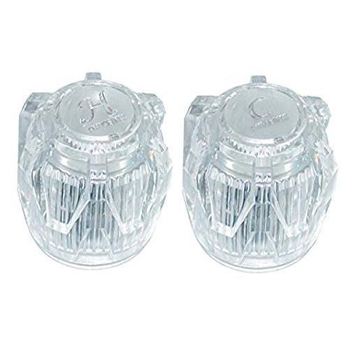 (Valterra LLC Phoenix Faucets PF287015 Small Acrylic Knob Handle - Hot and Cold, Pair)