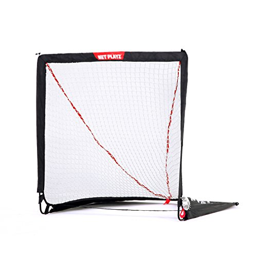 NET PLAYZ 4 x 4 x 4 Feet Lacrosse Goal Fast Install, Fiberglass Frme, Lightweight, Foldable, Portable, Carry bag Included by NET PLAYZ (Image #1)