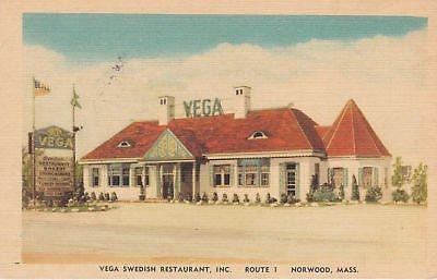 E6223 MA, Norwood Vega Swedish Restaurant Postcard