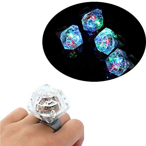 Libobo1pc LED Light Up Finger Ring Glow Party