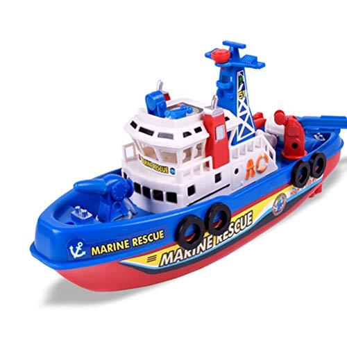 YRE Juguetes eléctricos del Barco del Fuego de los Cabritos creativos, Barco del Juguete del mar del Modelo del rociador...