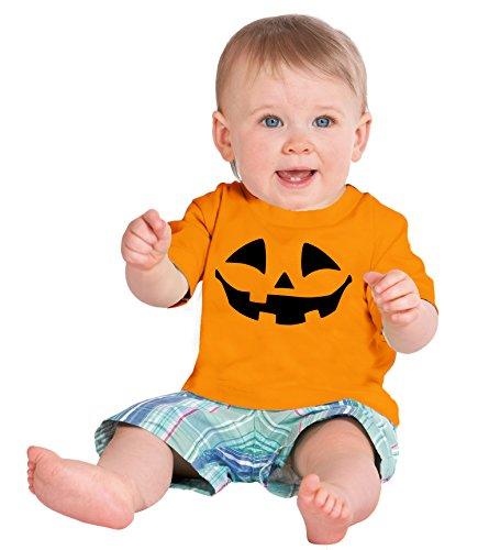 Little Boys' Pumpkin Face Jack O' Lantern | Cute Toddler Halloween T-shirt