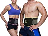 REEHUT Waist Trimmer Premium Weight Loss Ab Belt for Man & Women- Stomach Fat Burner Wrap, Waist Trainer, Back Support and Abdominal Muscle with Adjustable Wrap (Pink, M)