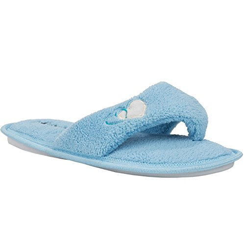 Slipper Slide Sole Spa Womens Aerusi Comfort Classy Cute Blue Soft Indoor Bedroom Four Season Slippers aBwaq7OF