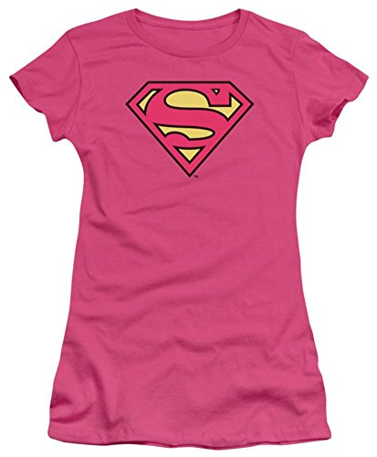 Juniors: DC-Pinky Shield Juniors (Slim) T-Shirt Size XL