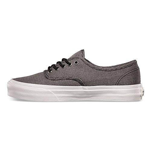 Vans Authentic Slim Para Hombre Talla 8.5 Suiting Negro True White Moda Para Patineta Zapatos