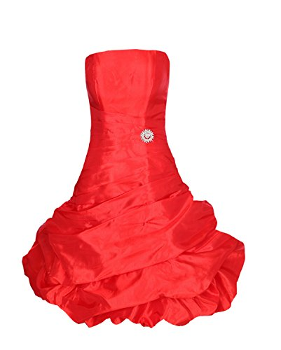 ROBLORA-Vestido de noche de Cóctel formal del vestido de boda de dama de honor corto Dress12ES Red Feuer