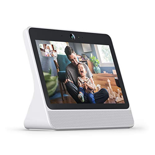 Facebook Portal Smart, Hands-Free Video Calling with Alexa Built-in (White)