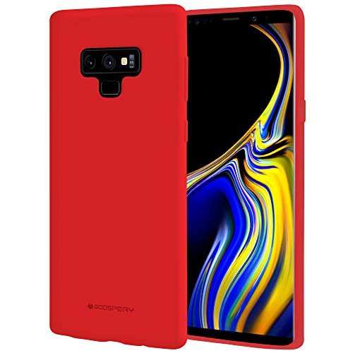 Galaxy Note 9 Case, [Silky] GOOSPERY [Slim Fit] Soft Feeling [Flexible] Rubber TPU Case [Lightweight] Bumper Cover [Protection] for Samsung Galaxy Note 9 (RED) NT9-SFJEL-RED