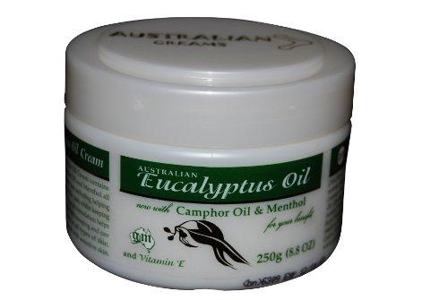 Crème d'huile d'eucalyptus avec du camphre huile, Menthol et vitamine E - 8,8 Onces