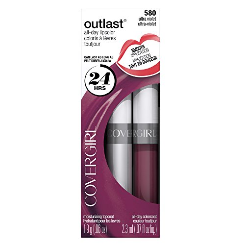 COVERGIRL Outlast All-Day Moisturizing Lip Color Ultra Violet 580, .13 oz, Old (Ultraviolet Color)