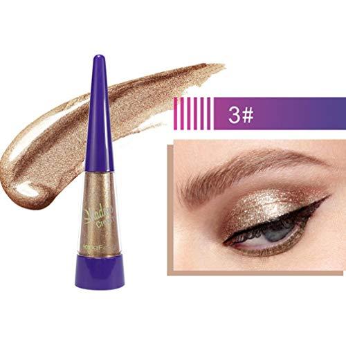HengFang Diamond Glitter Eyeshadow,Vovomay Metallic Shiny Smoky Eyes Eyeshadow Waterproof Glitter Liquid Eyeliner (C)