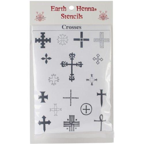 Earth Henna SPLS-CR Stencil Transfer Pack, Crosses Collec...