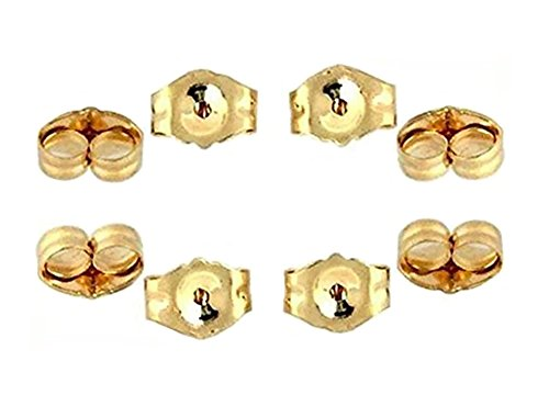 14K Yellow Gold Earring Backs Ear Locking (8 Piece) 14k Yellow Gold Replacement