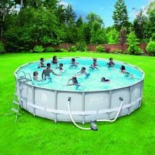 "Coleman 18' x 48"" Power Steel Frame Above-Ground Swimming..."